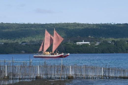 traditional sailing canoe