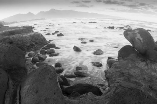 Rocky and rugged coastline